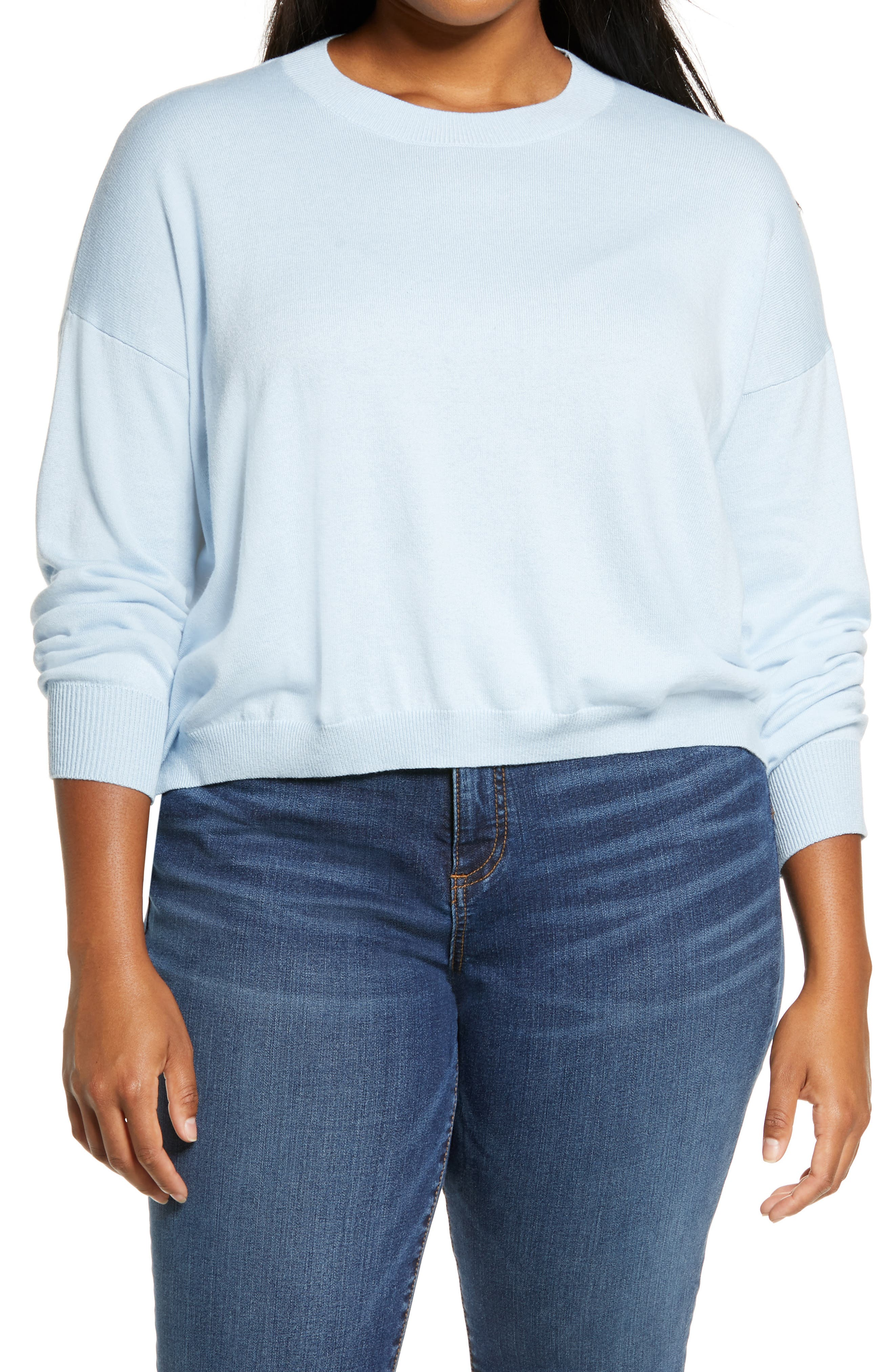 Dropped shoulders enhance the easy, slouchy fit of this everyday sweater. Style Name: Bp. Easy Drop Shoulder Sweater (Plus Size). Style Number: 6014077 2. Available in stores.