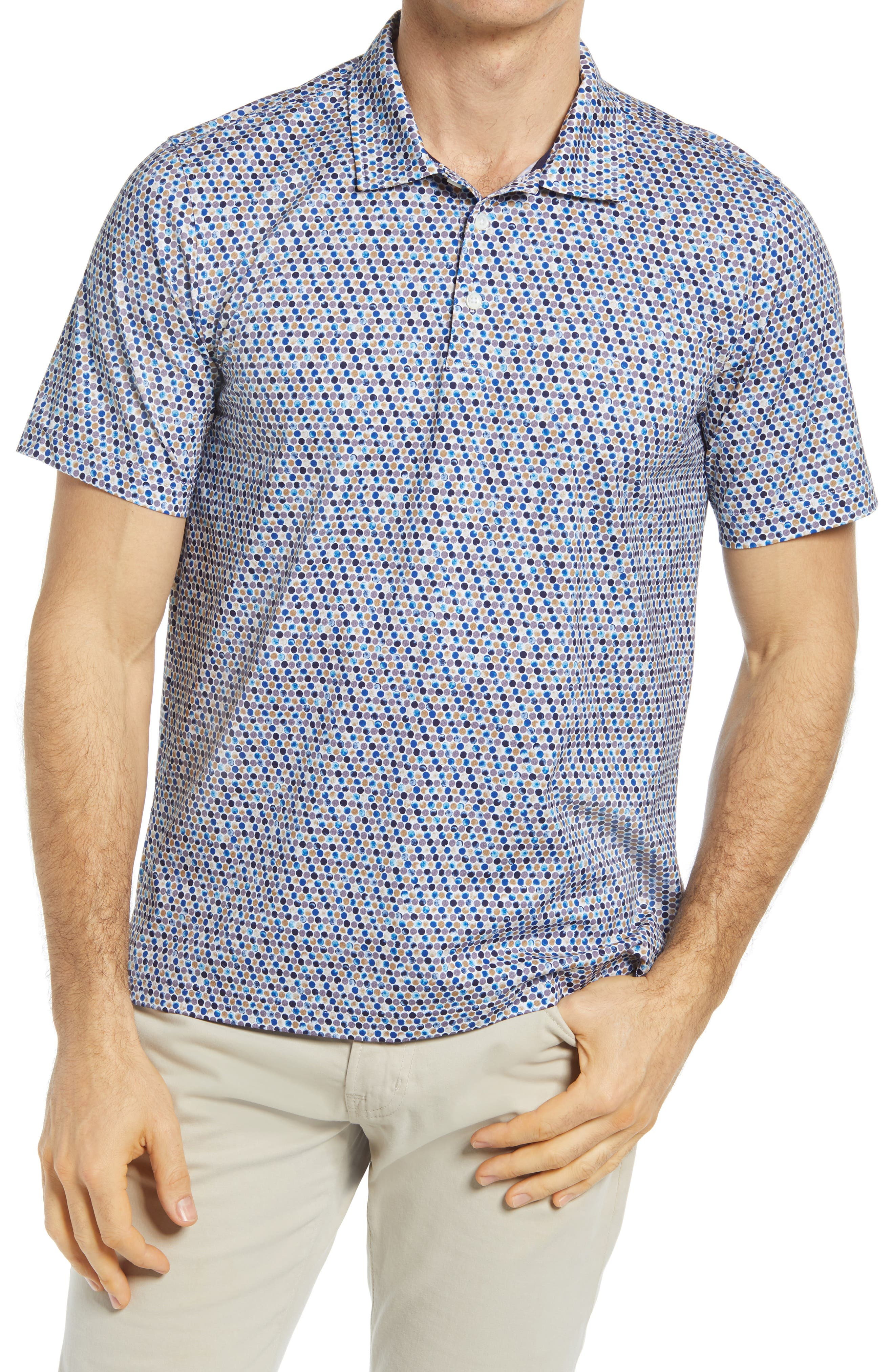 Ooohcotton Tech Abstract Stretch Polo