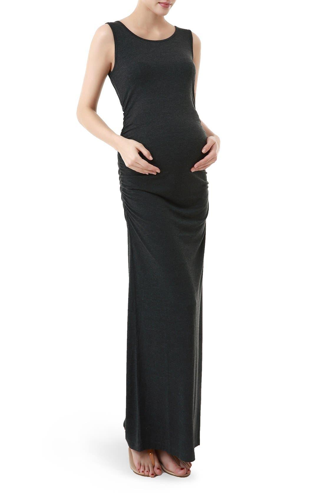 Kimi And Kai Maternity Maxi Tank Dress, Grey