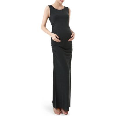 Kimi And Kai Maternity Maxi Tank Dress, Grey