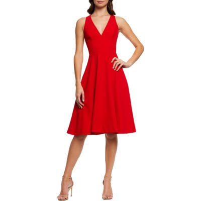 Dress The Population Catalina Fit & Flare Dress, Red
