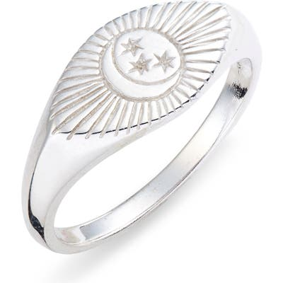 Sterling Forever Starry Nights Eye Signet Ring