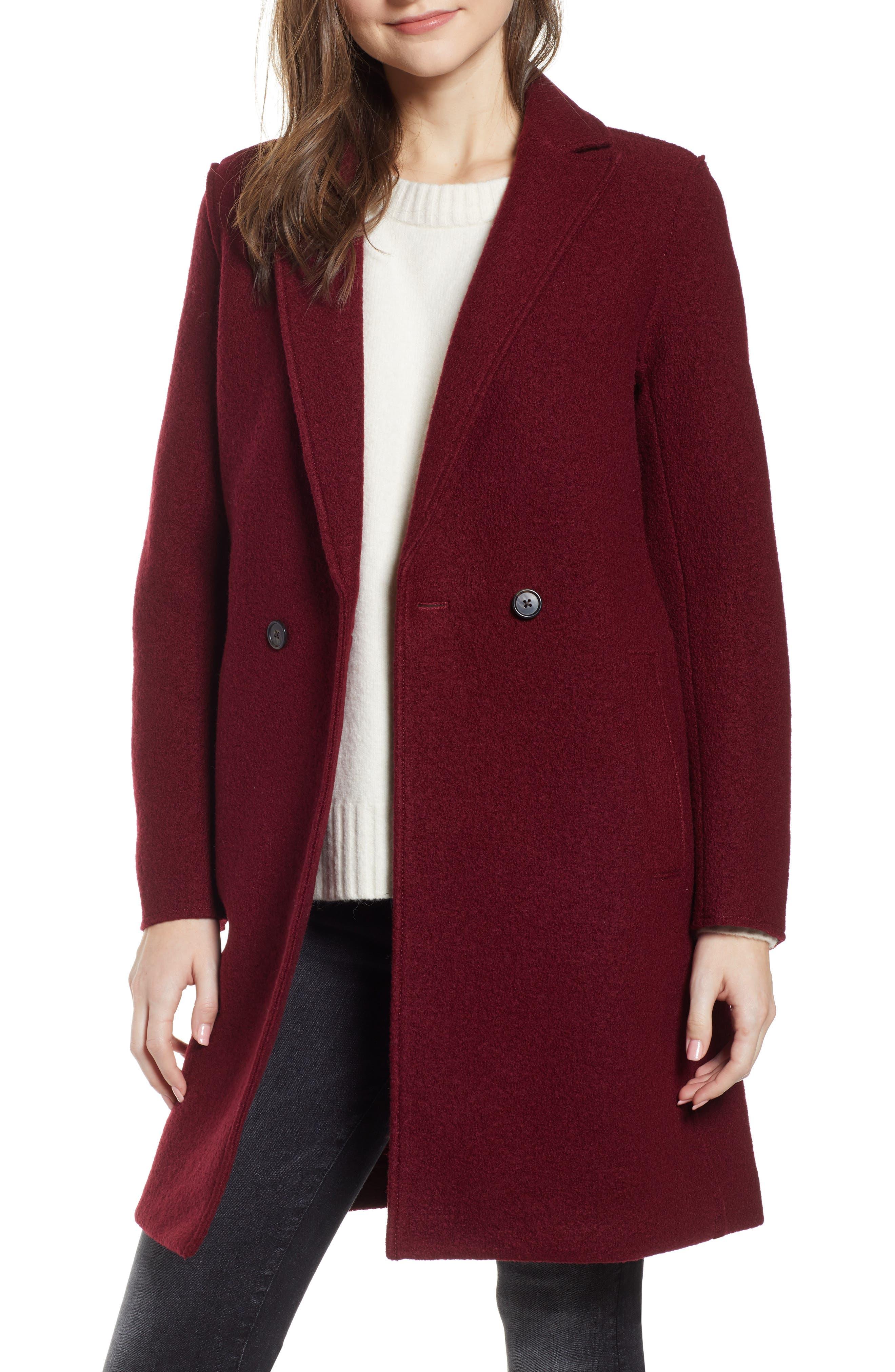 ,                             Daphne Boiled Wool Topcoat,                             Main thumbnail 53, color,                             602