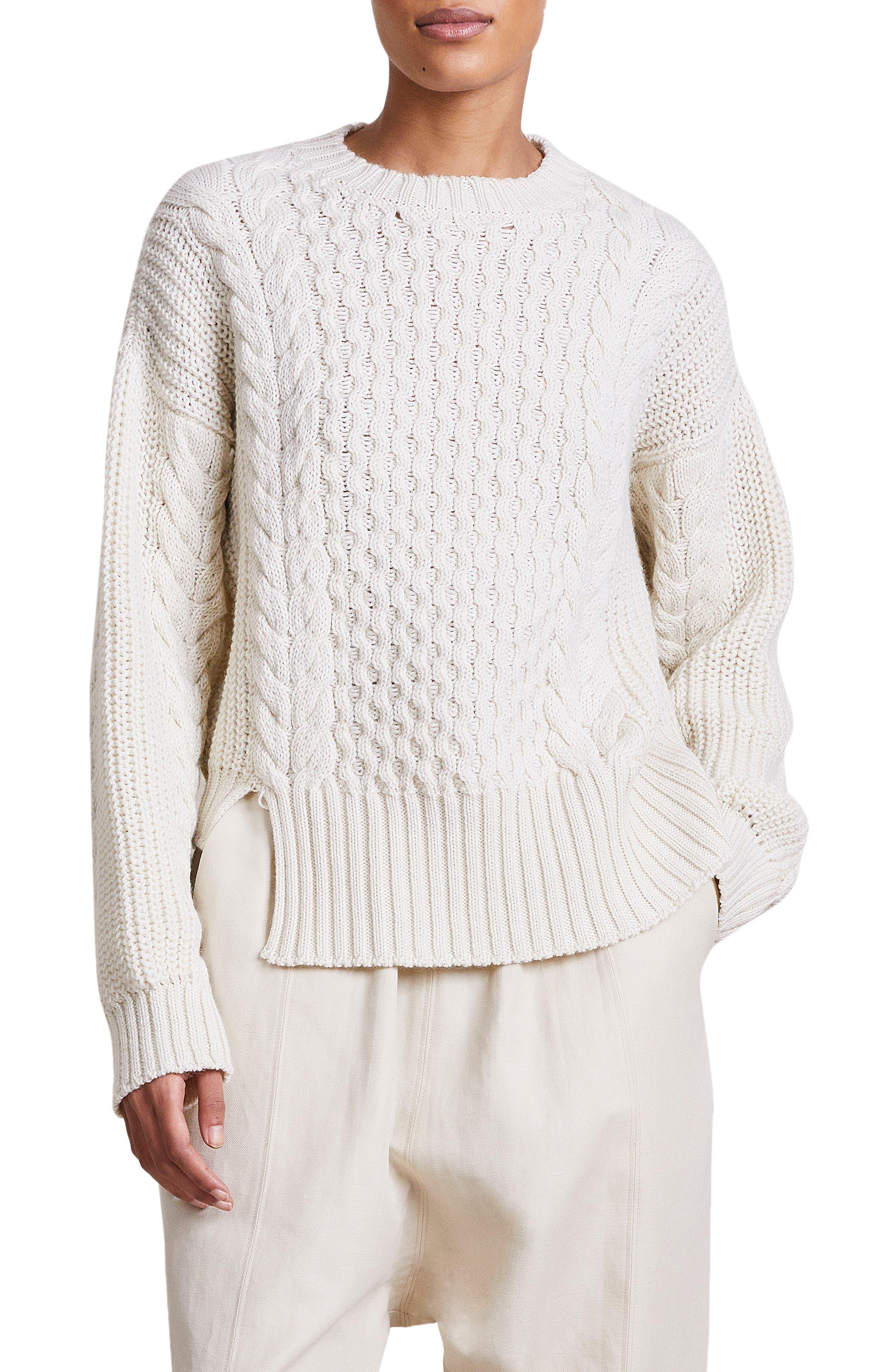 Nuevo Anni Merino Wool Fisherman Sweater