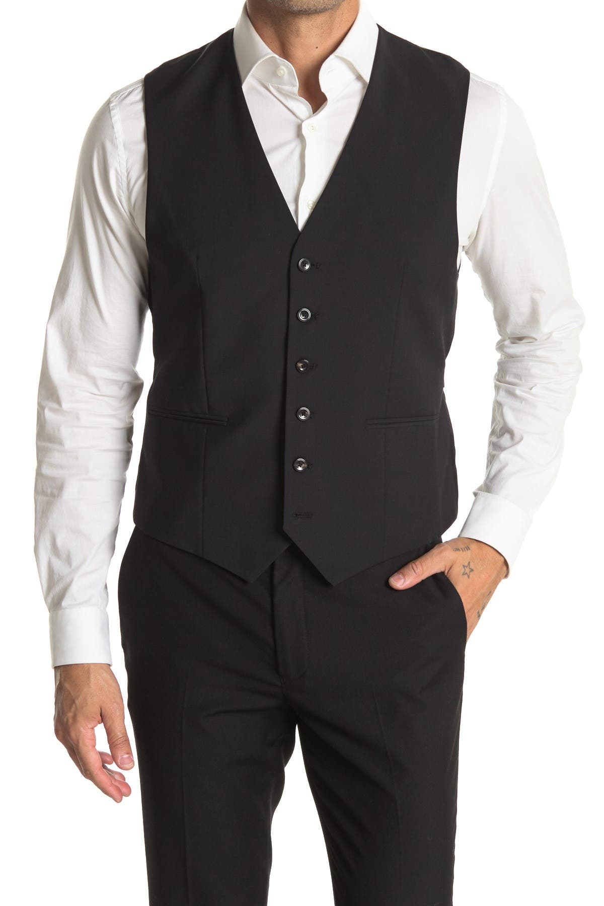 Image of REISS Belief Modern Fit Vest Suit Separates