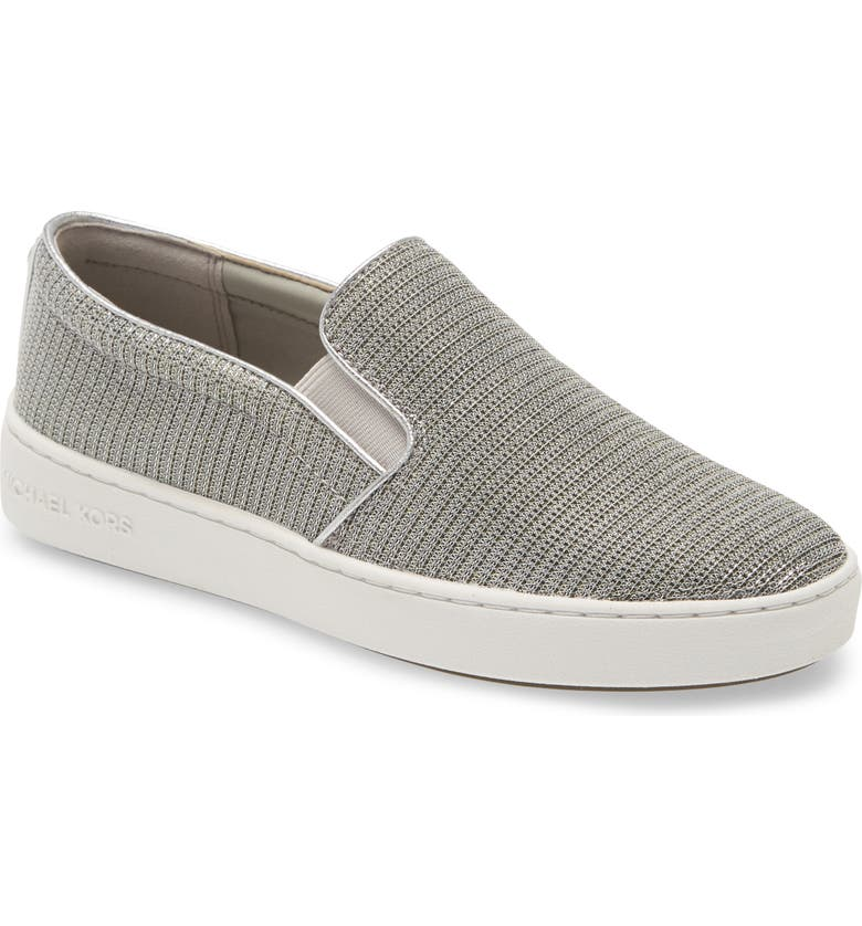 MICHAEL MICHAEL KORS Keaton Slip-On Sneaker, Main, color, METALLIC SILVER
