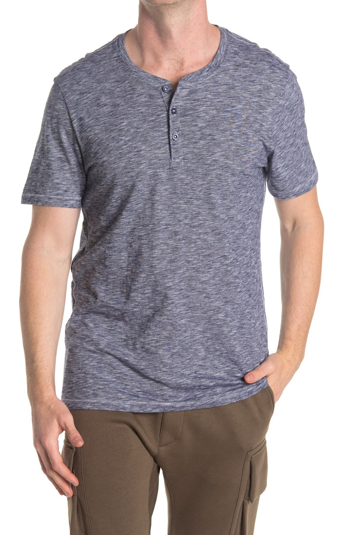 Image of Abound Short Sleeve Fineline Henley T-Shirt