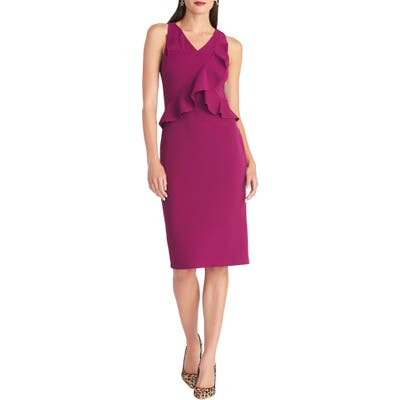 Rachel Rachel Roy Ruffle Sheath Dress, Purple