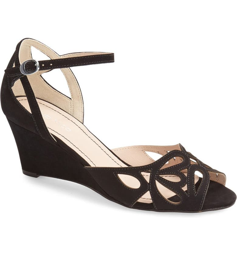 KLUB NICO 'Kismet' Wedge Sandal, Main, color, BLACK