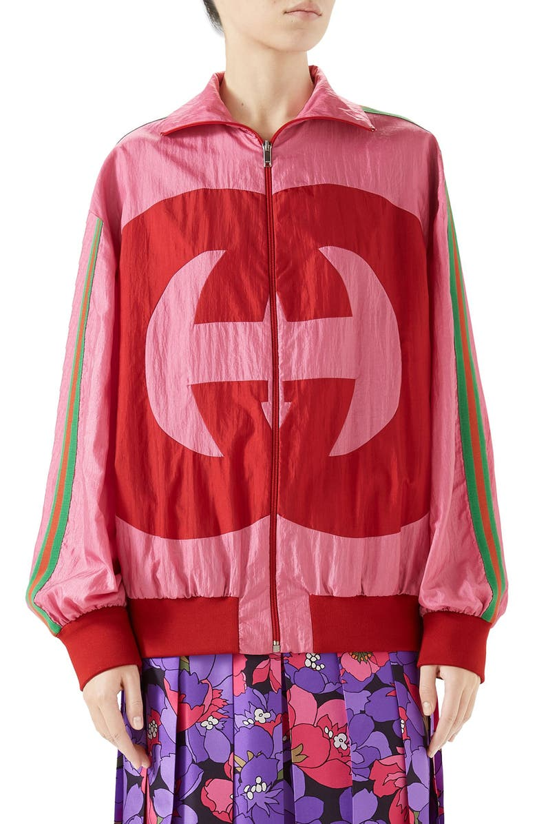 GUCCI Interlocking-G Technical Nylon Jacket, Main, color, MULTI