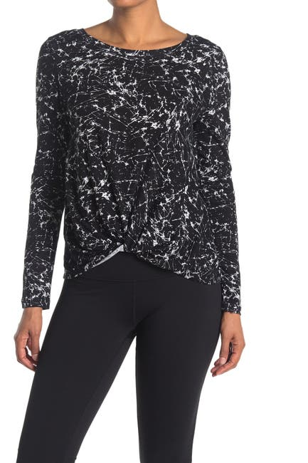 Image of Z By Zella Twisted Front Long Sleeve T-Shirt