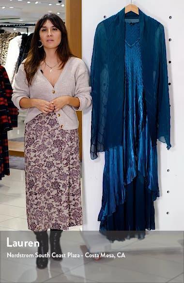 Chiffon Hem Charmeuse Gown with Shawl, sales video thumbnail