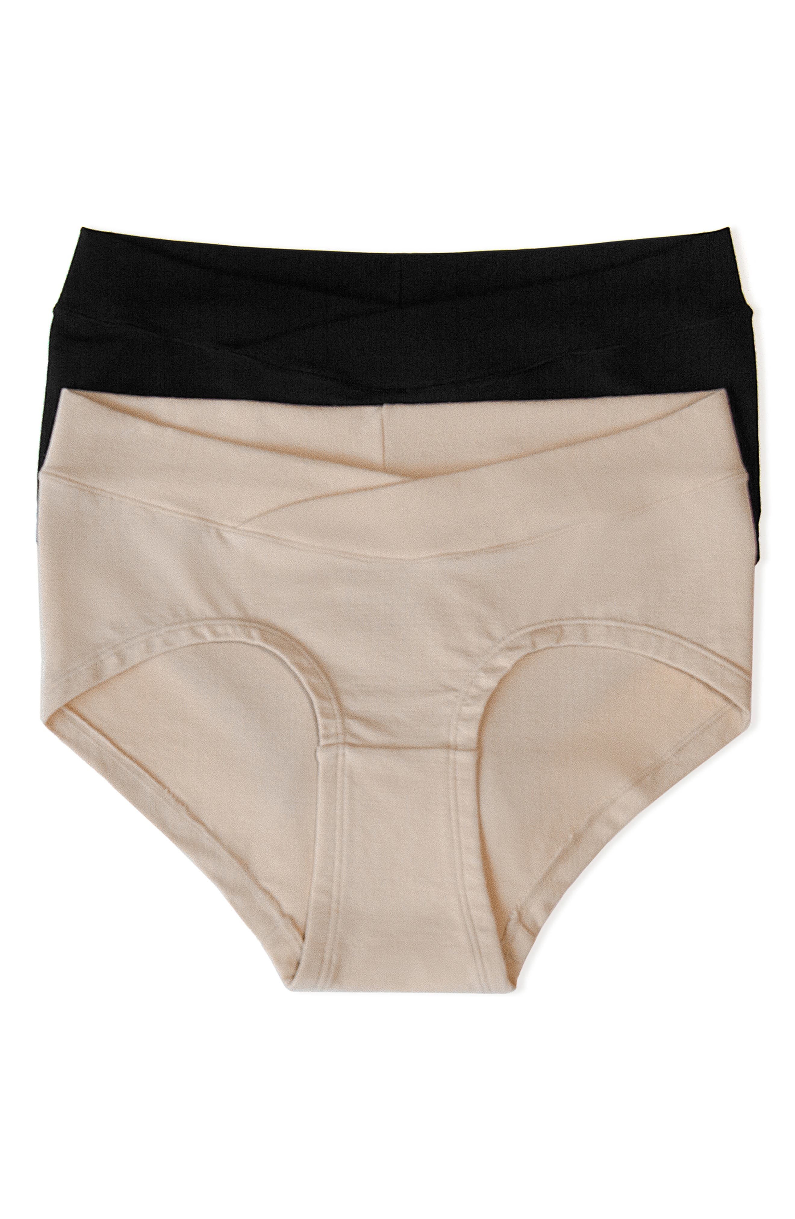 Assorted 2-Pack Maternity Hipster Briefs