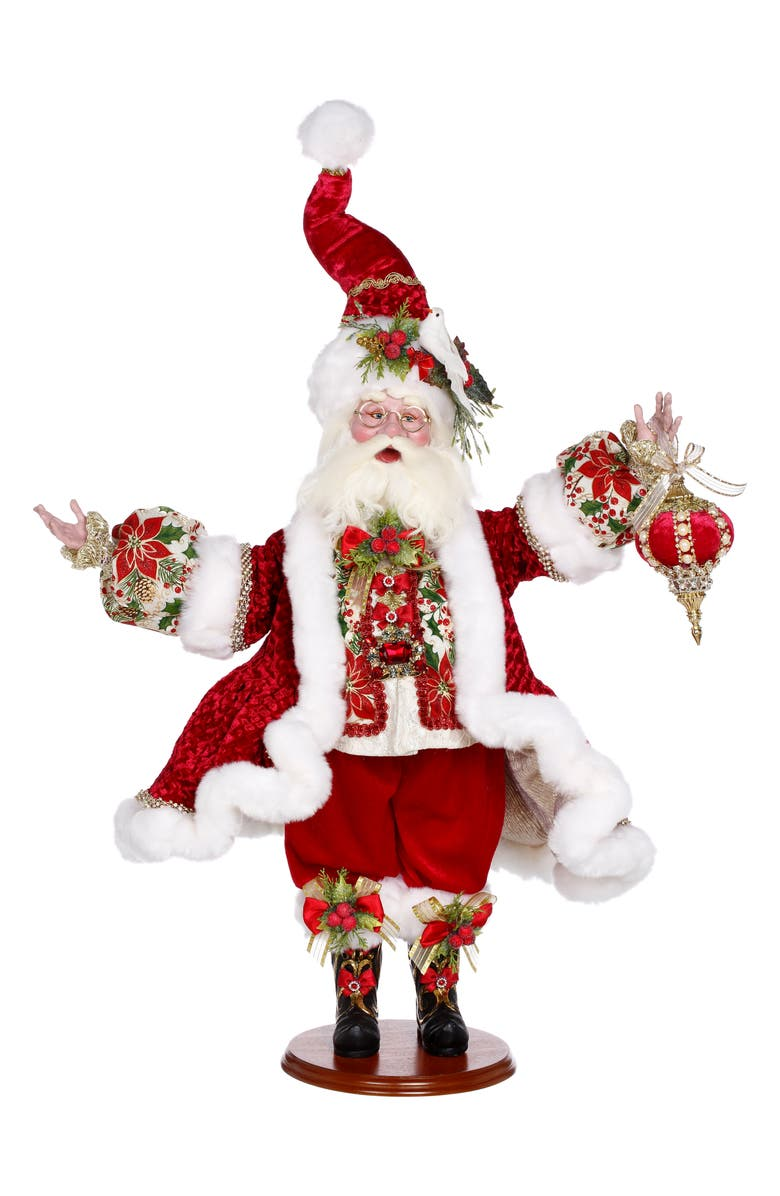 MARK ROBERTS Santa with Dove, Main, color, RED MULTI