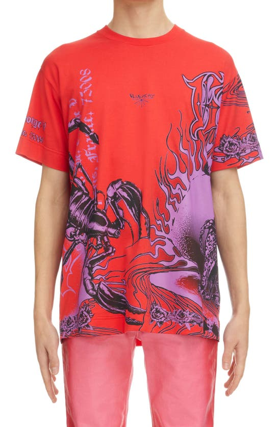 Givenchy Cottons ULTRA PURPLE OVERSIZE GRAPHIC TEE
