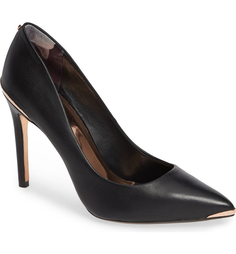 TED BAKER LONDON Izibeli Pump, Main, color, BLACK LEATHER