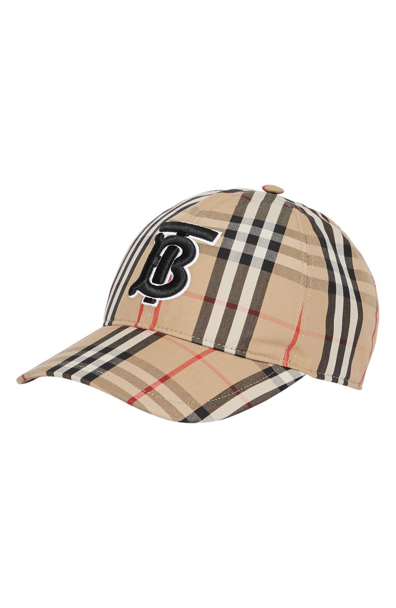 BURBERRY Logo Icon Stripe Baseball Cap, Main, color, ARCHIVE BEIGE