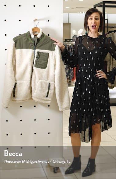Faux Fur Front Zip Jacket, sales video thumbnail
