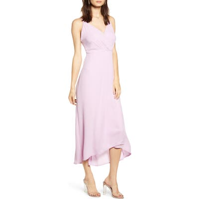 All In Favor Sleeveless High/low Dress, Purple