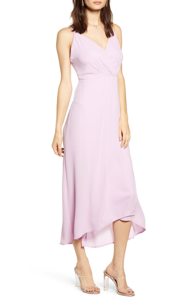 ALL IN FAVOR Sleeveless High/Low Dress, Main, color, 500