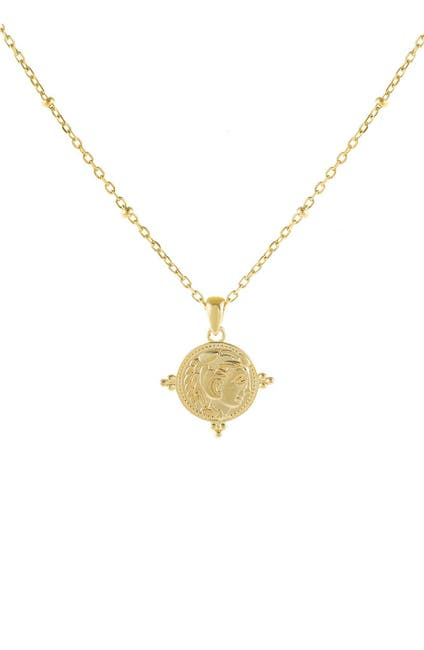 Image of Adina's Jewels Beaded Coin Pendant Necklace