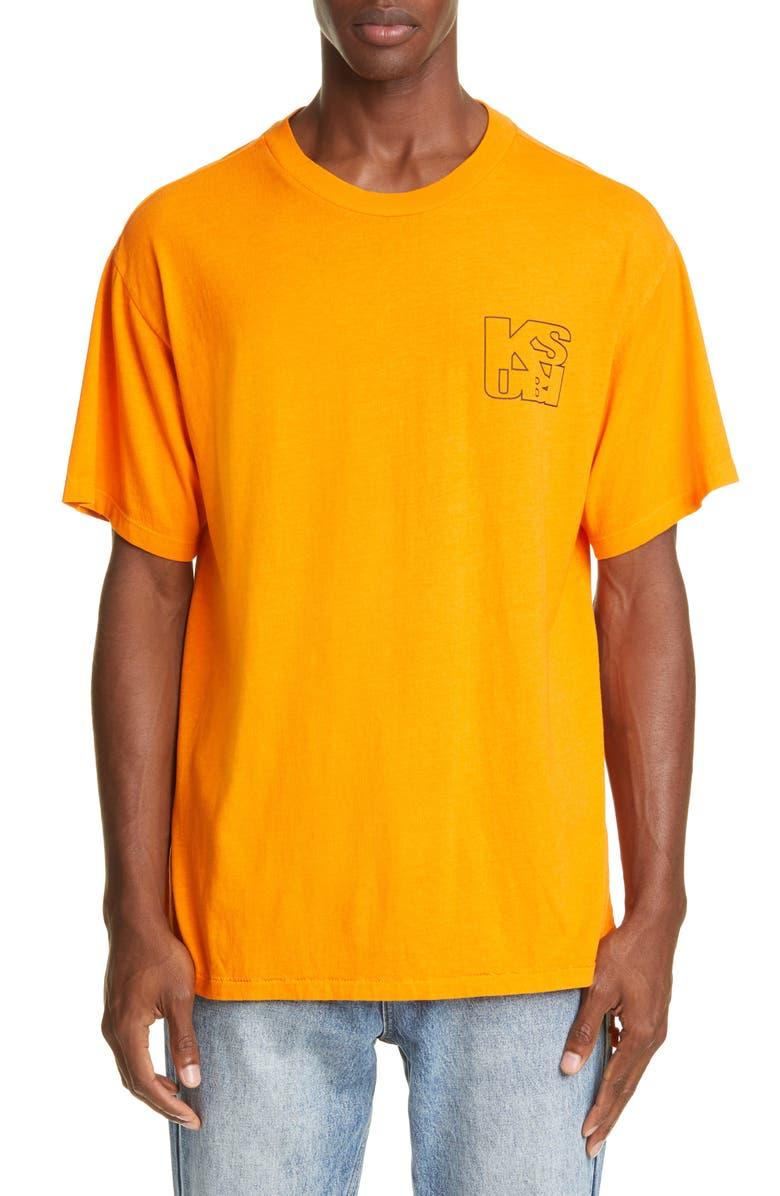 KSUBI Square Logo T-Shirt, Main, color, ORANGE