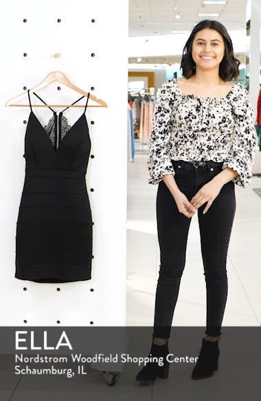 Lace Detail Body-Con Minidress, sales video thumbnail