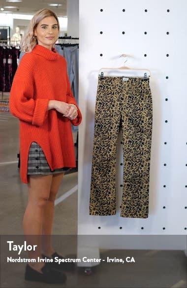 Leopard Kickout Crop Pants, sales video thumbnail