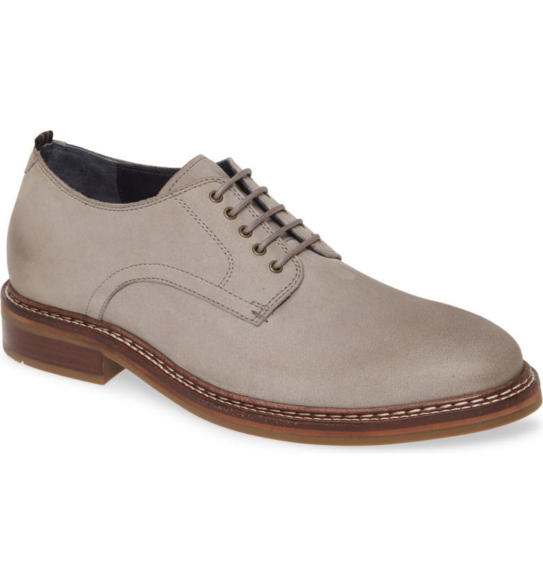 COLE HAAN Frankland Grand Plain Toe Derby, Main, color, IRONSTONE NUBUCK