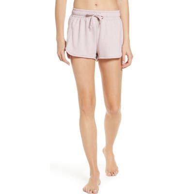 Onzie Divine French Terry Lounge Shorts, Pink