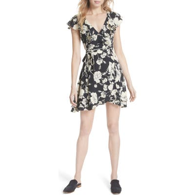 Free People French Quarter Print Wrap Minidress