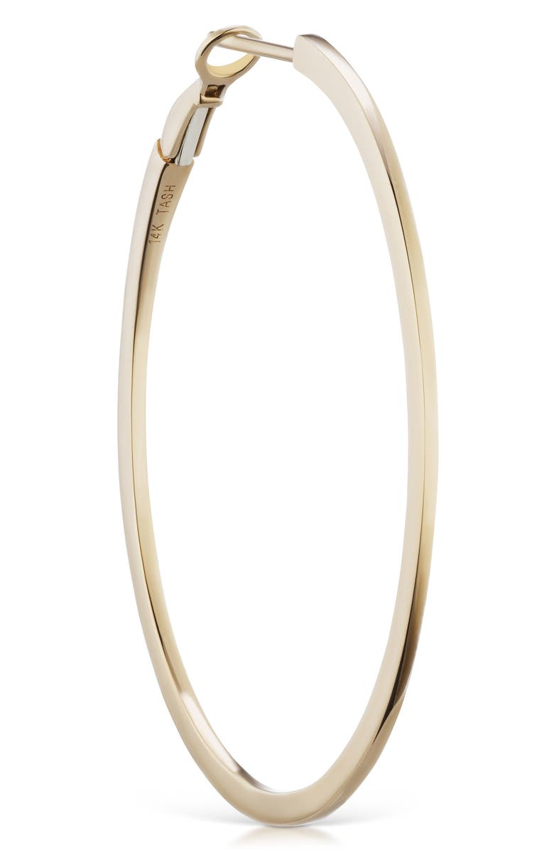 MARIA TASH Flat Hoop Earring, Main, color, YELLOW GOLD