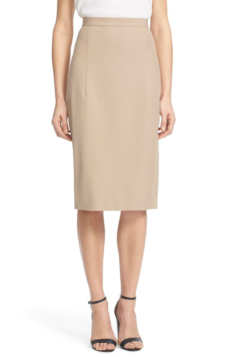 THEORY 'Hemdall' Stretch Cotton Midi Skirt, Main, color, 256