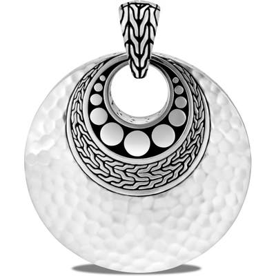 John Hardy Dot Hammered Silver Reversible Pendant