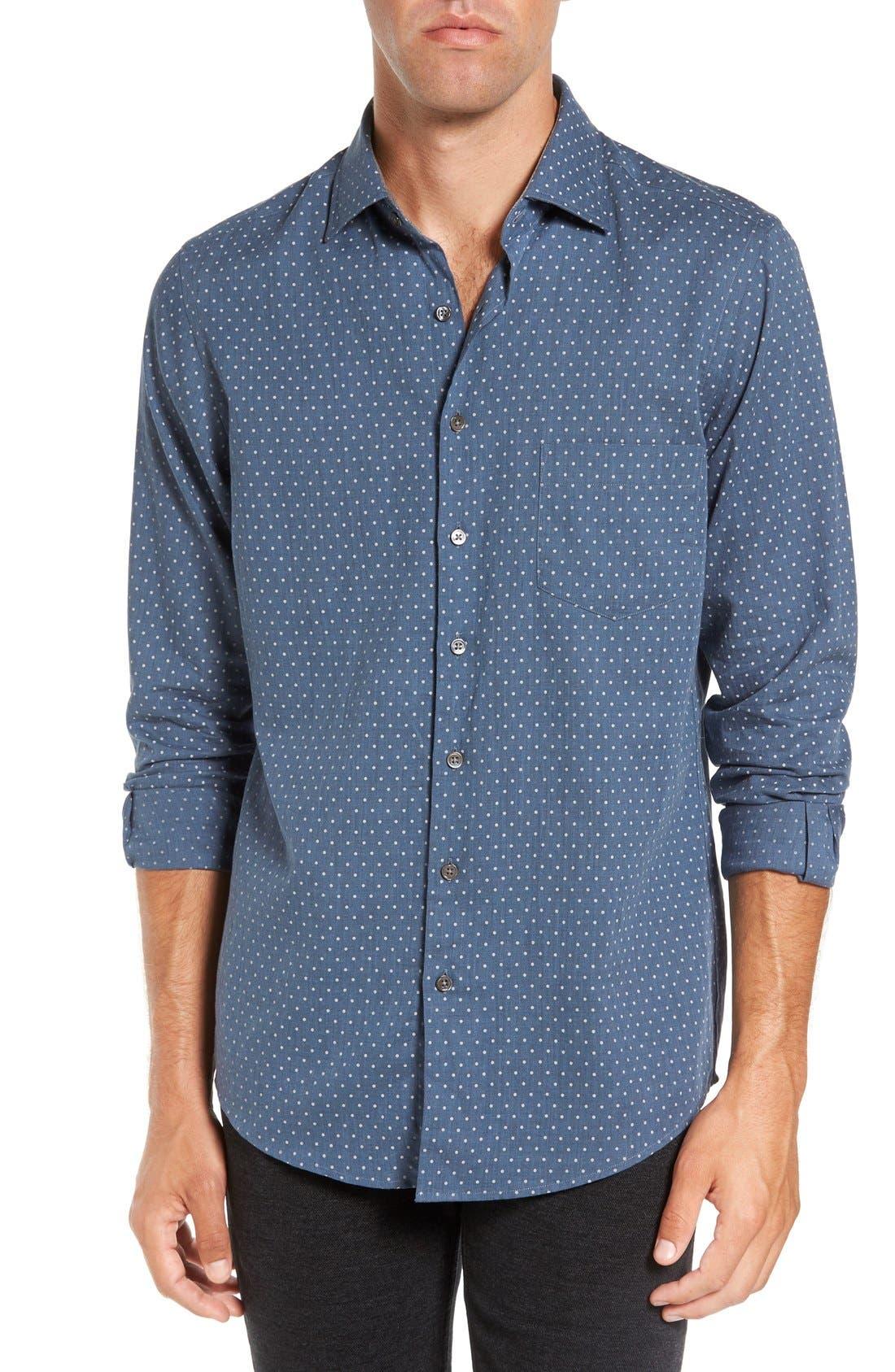 Image of RODD AND GUNN Kennaway Long Sleeve Sports Fit Shirt