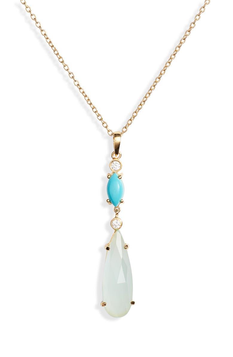 Argento Vivo Semiprecious Stone Pendant Necklace