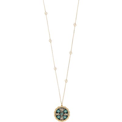 Gucci Icon Blooms Enamel Pendant Necklace