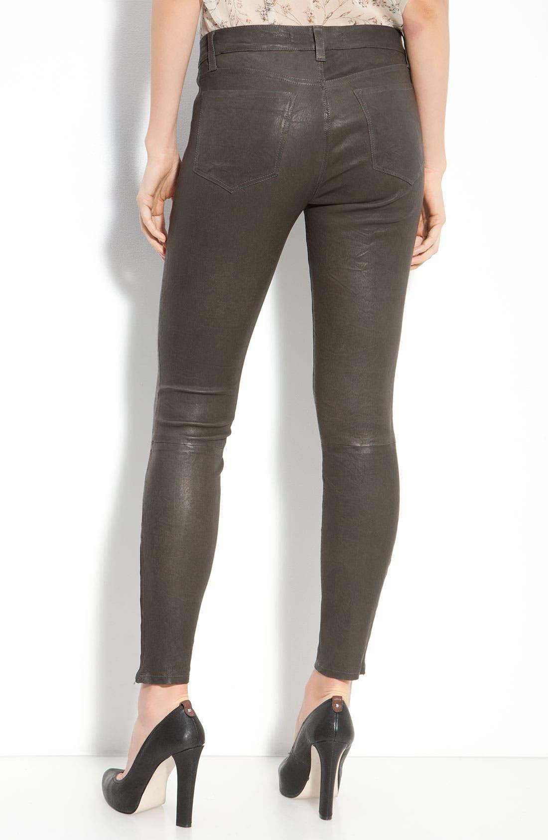 ,                             '8001' Lambskin Leather Pants,                             Alternate thumbnail 37, color,                             020