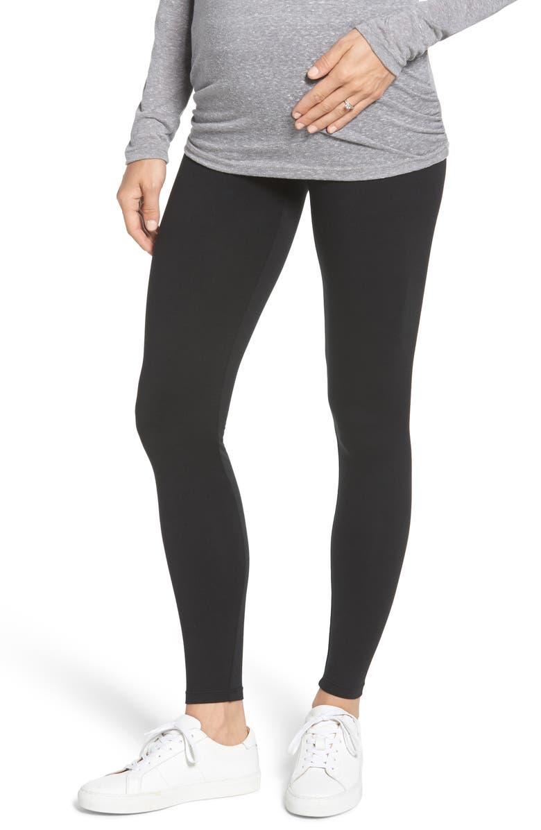 INGRID & ISABEL<SUP>®</SUP> Under Belly Maternity Leggings, Main, color, JET BLACK