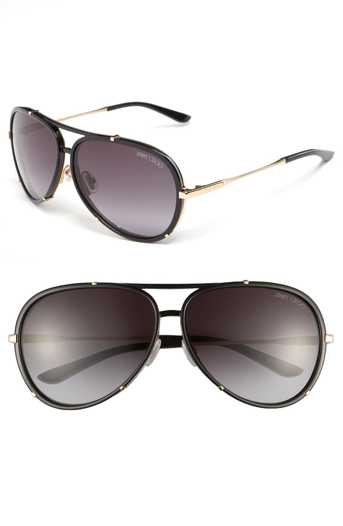 'Terrence' 62mm Aviator Sunglasses, Main, color, 001