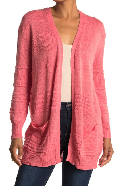 Image of Woven Heart Textured Cardigan