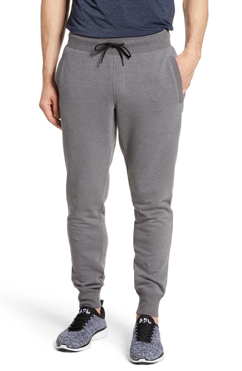 ZELLA Jogger Sweatpants, Main, color, GREY OBSIDIAN HEATHER
