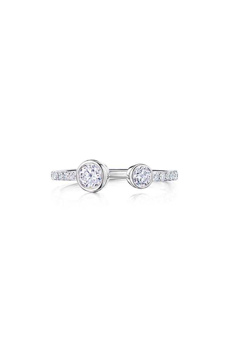 KWIAT Eclipse Diamond Open Ring, Main, color, WHITE GOLD