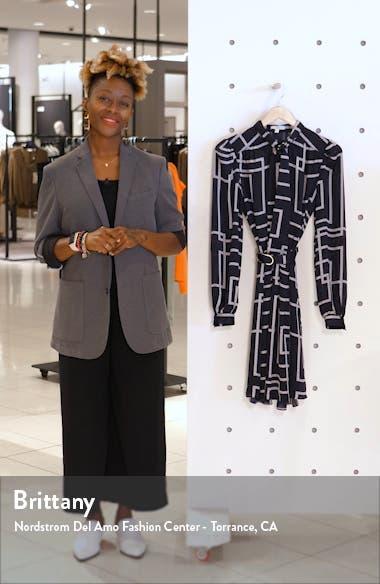 Tasma Geo Print Long Sleeve Dress, sales video thumbnail
