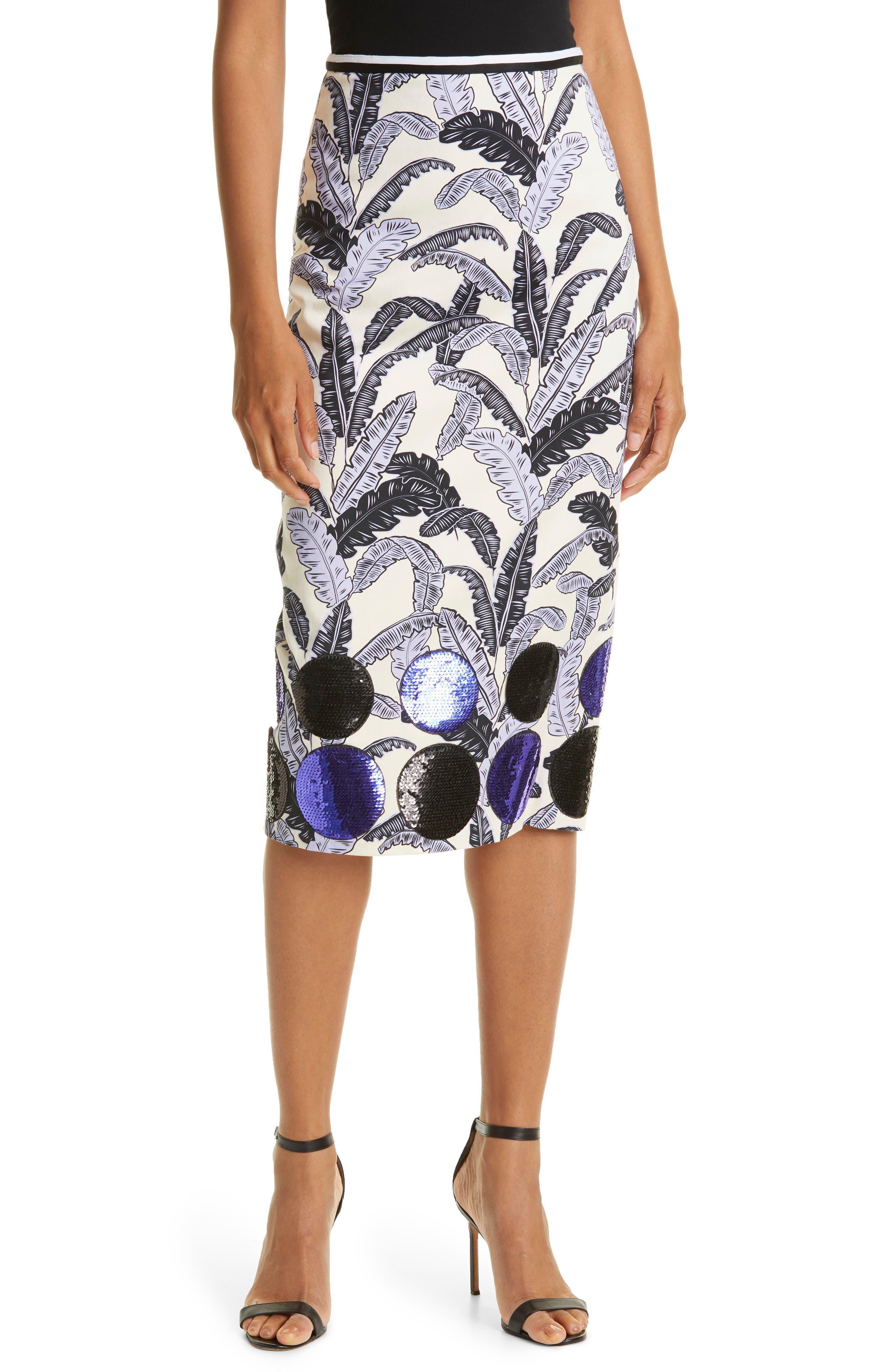Aromatherapy Cotton Pencil Midi Skirt