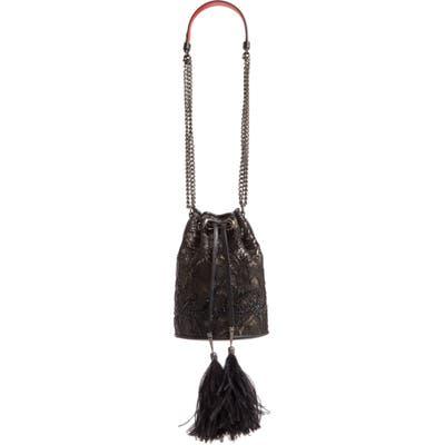 Christian Louboutin Marie Jane Lace Bucket Bag - Black