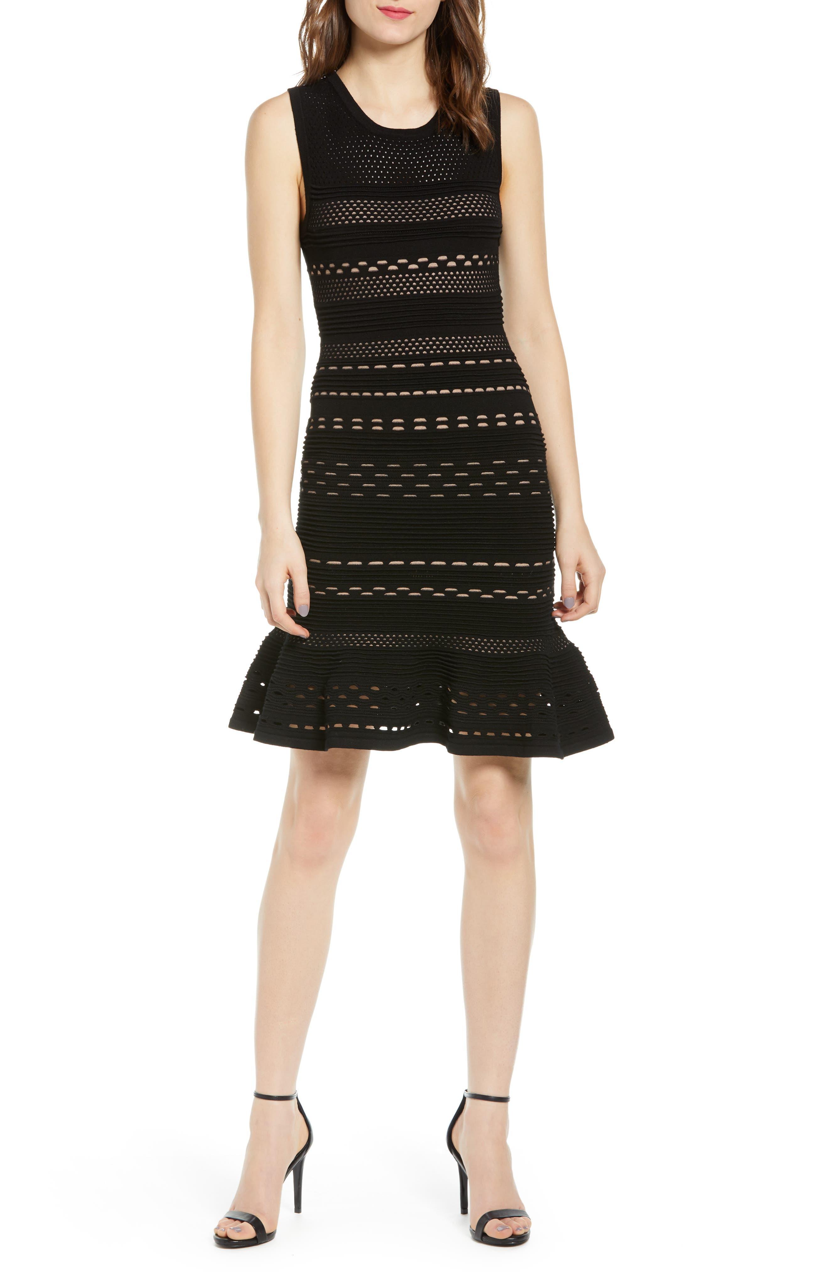 Bailey 44 Crepe Suzette Sweater Dress, Black