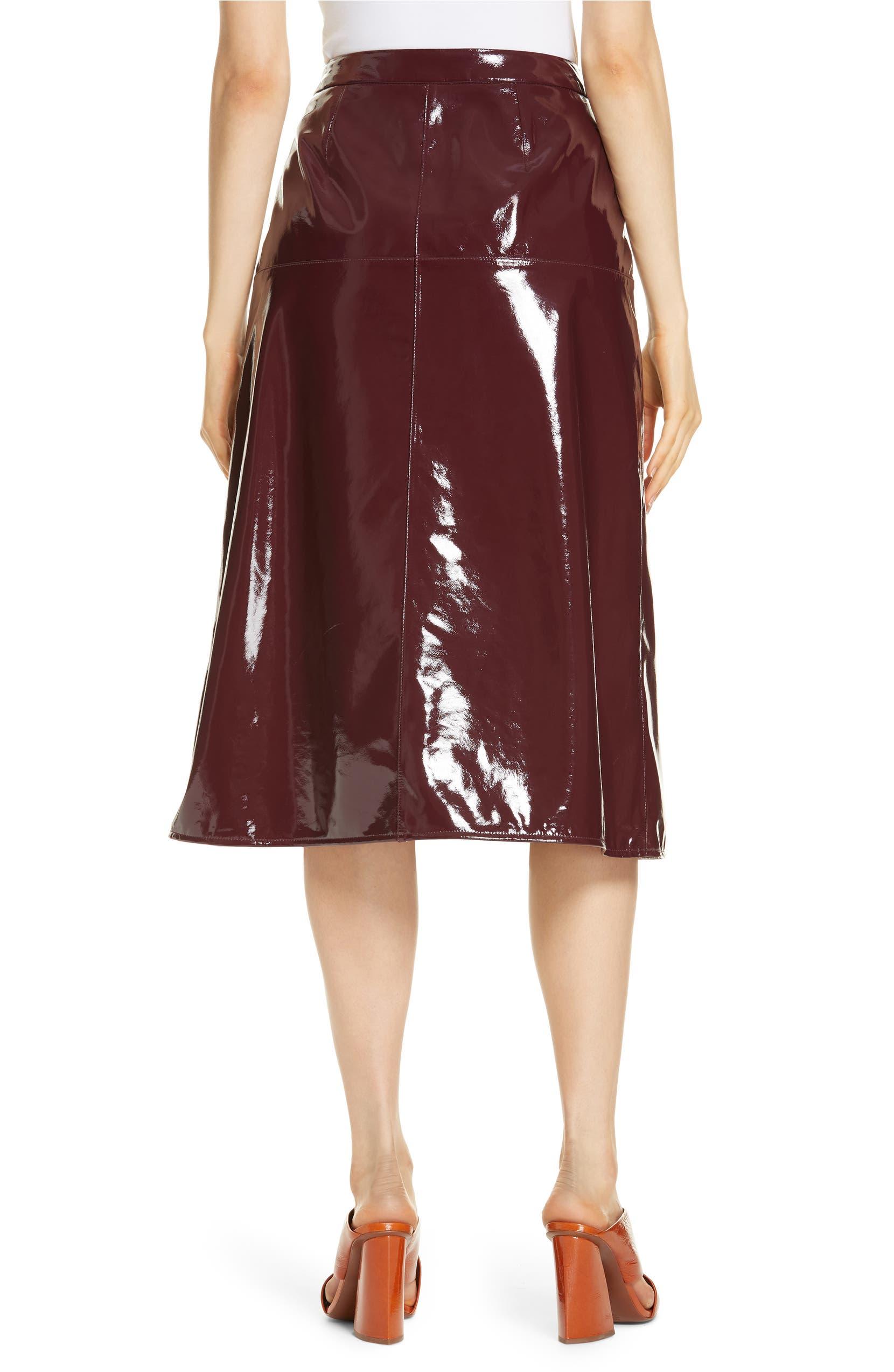 72f901c78b Lewit Patent Leather Midi Skirt | Nordstrom
