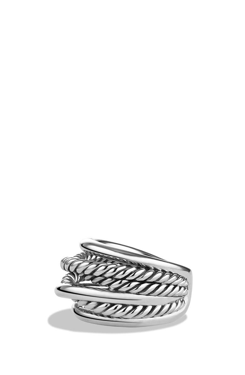 DAVID YURMAN 'Crossover' Narrow Ring, Main, color, SILVER