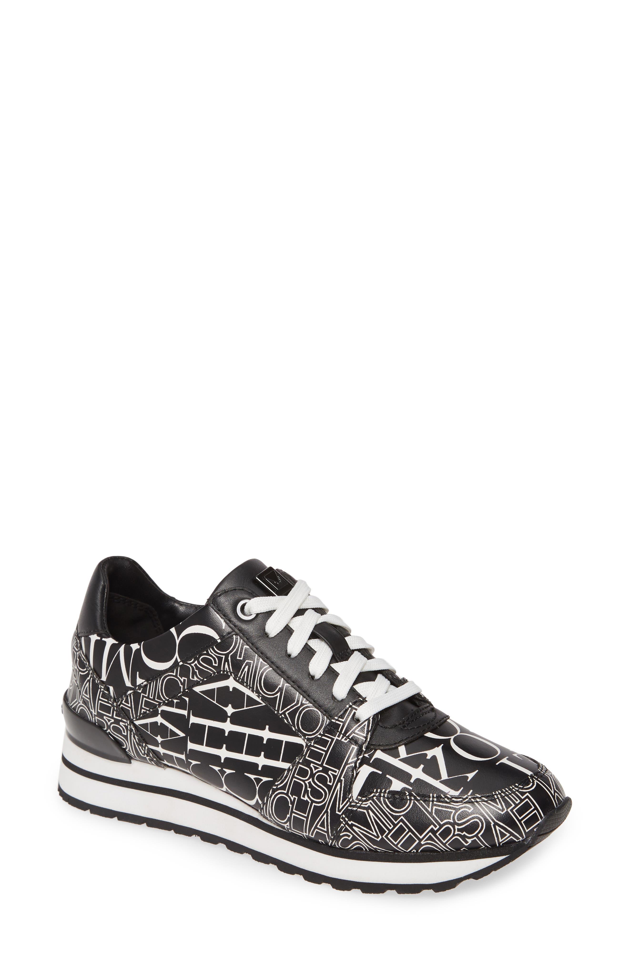 Michael Michael Kors Billie Perforated Sneaker, Black